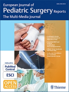 View Details for European Journal of Pediatric Surgery Reports