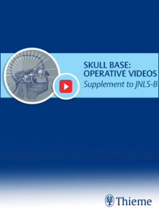 View Details for Journal of Neurological Surgery Part B - Skull Base: Operative Videos