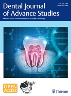 View Details for Dental Journal of Advance Studies