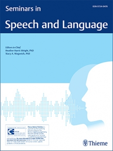 View Details for Seminars in Speech and Language